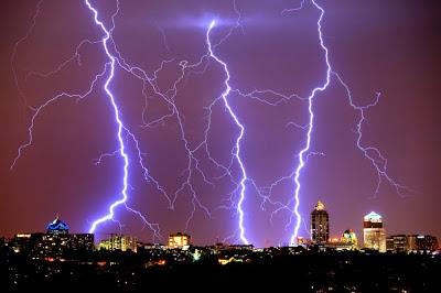 Lightning in Johannesburg