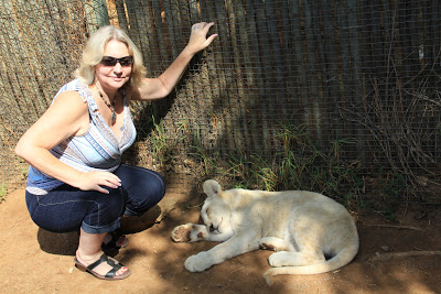 Me and a lion cub